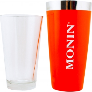 Mixing Tin - Vinyl Monin Portocaliu + Mixing Glass