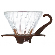 HARIO Coffee Dripper Glass V60 TIP-02 Brown
