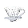 HARIO Coffee Dripper Glass V60 TIP-02 White