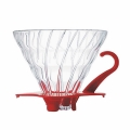 HARIO Coffee Dripper Glass V60 TIP-02 Red