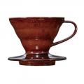 HARIO Coffee Dripper Ceramic V60 TIP-01 Choco...