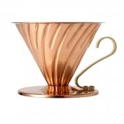 HARIO Coffee Dripper Metalic V60 TIP-02 Copper