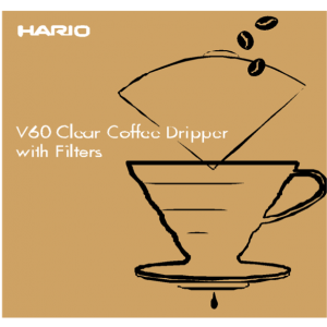 HARIO Kit Coffee Dripper V60 - 02 Plastic + Filtre 100buc