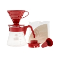 HARIO Coffee Brewing Kit V60 Plastic Red