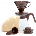 HARIO Coffee Brewing Kit V60 Plastic Brown