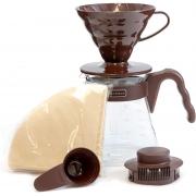 HARIO Coffee Brewing Kit V60 Plastic Brown