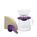 HARIO Coffee Dripper&Pot Glass Clear Purple