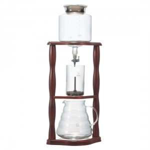 HARIO Coffee Water Dripper - cu suport din Lemn - 780ml