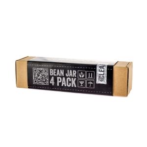 Comandante Bean Jar - Sticla Transparent - set de 4 Buc