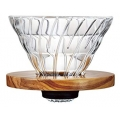 HARIO Coffee Dripper Glass V60 TIP-02 Olive W...