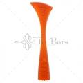 B002R - Muddler Ribbed Orange Fluorescent