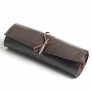 Leather Bartenders Roll Up Kit Bag