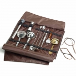 Leather Bartenders Roll Up Kit Bag