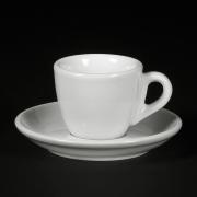 Cesti de Espresso + Farfurii - 70ml - Apulum - White - 6buc/set