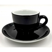 Cesti de Espresso + Farfurii - 70ml - Apulum - Black - 6buc/set