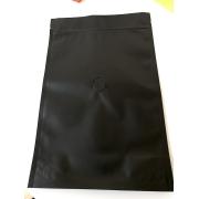 Pungi cafea 125gr - Plastic - Zip+Supapa - Negru