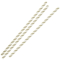 Paie din Hartie - Gold & White Striped - ...