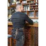 Sort Barman/Barista - Tercot/Bumbac + Piele Naturala - Maro