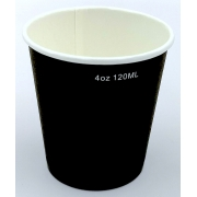 Pahare To Go 4 OZ - 100/120ml - Negru - 50buc/set