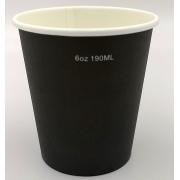 Pahare To Go 6 OZ - 150/190ml - Negru - 50buc/set