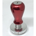 Bravo Tamper - 58.5mm - Maner metal - Red