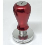 Bravo Tamper - 58.5mm - Maner metal - Red