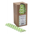 Paie din Hartie - Green & White Striped -...