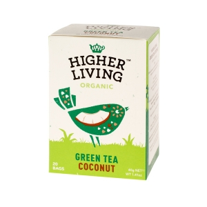 Higher Living Green Tea Coconut - 20 plicuri