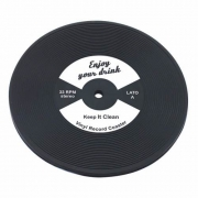 D005W - Drink Coaster - Suport Pahar - Vinyl Record - White