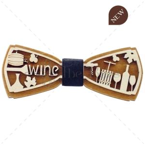 PA01.14 - Papion din Lemn - 3D - Wine
