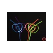 Heart shape straw - 50buc