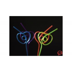 Heart shape straw - 50buc