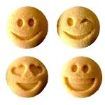 Forme din zahar - 150buc - Emoji - Galben
