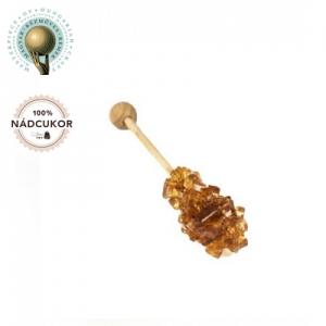Zahar candel brun - Scurt - 100buc / cutie - AMBALAT INDIVIDUAL