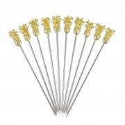 Pineapple Garnish Pick - Gold - 10buc/set