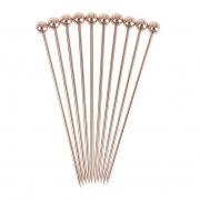 Ball Garnish Pick - Copper - 10buc/set