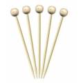 Scobitori sfere din lemn - 100buc - Decor Coc...