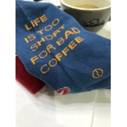 Șosete - LIFE IS TOO SHORT FOR BAD COFFEE - BLUE - 37-41