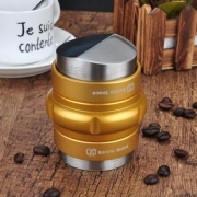 Barista Space - 2 in 1 Tamper distributor tool Golden 58mm