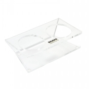 Bravo Acrylic Tamper and Distributor Stand - Transparent