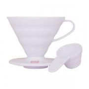 HARIO Coffee Dripper PLASTIC V60 TIP-02 White