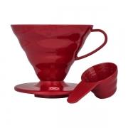 HARIO Coffee Dripper PLASTIC V60 TIP-02 Red
