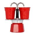 Bialetti Mini Express 2tz Red + 2 cesti de es...