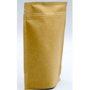 Pungi cafea 250gr - Kraft natur - Zip+Supapa - Maro
