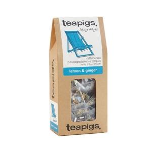 teapigs lemon & ginger - 15 Plicuri de ceai